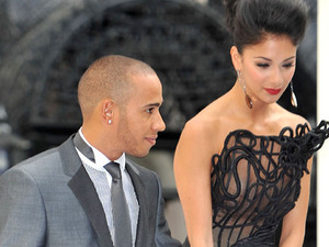 Lewis Hamilton and Nicole Scherzinger at the Men in Black 3 premiere