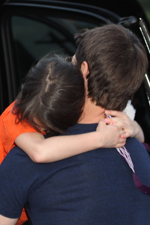 Tom Cruise and daughter Suri leaving the Greenwich Hotel, after spending the day (July 17) together for the first time since his divorce from Katie Holmes.