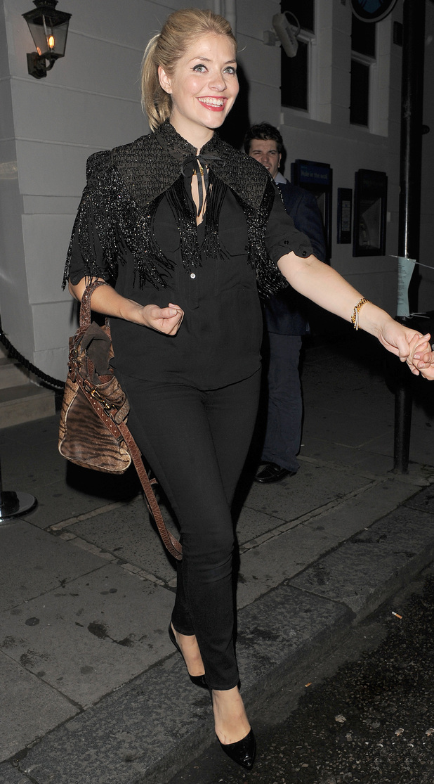 Holly Willoughby leaving The Brompton Club, London.