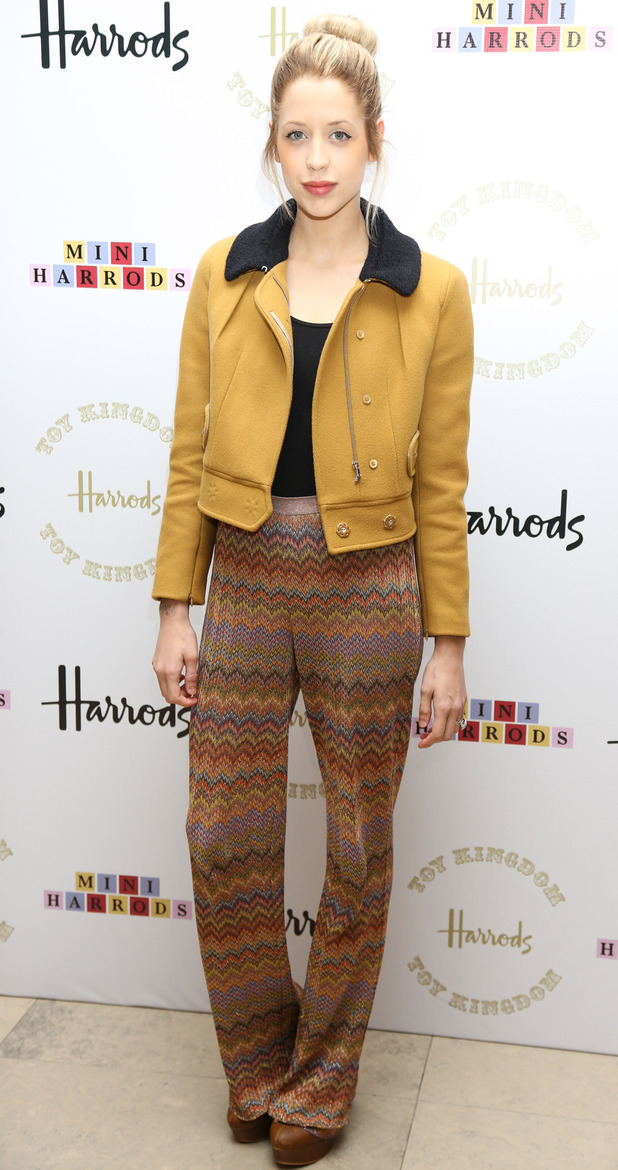 Peaches Geldof at the Harrods Toy Kingdom VIP launch party.