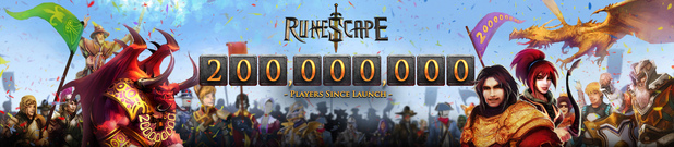 Runescape 200 million accounts