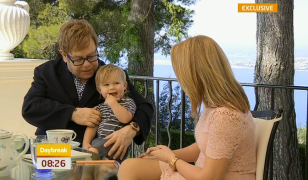 Elton John appars on 'Daybreak'