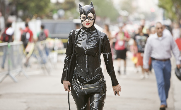 Fan dressed as Catwoman