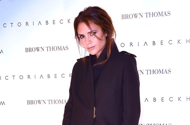 Victoria Beckham promotes her collections at Brown Thomas in Dublin, Ireland