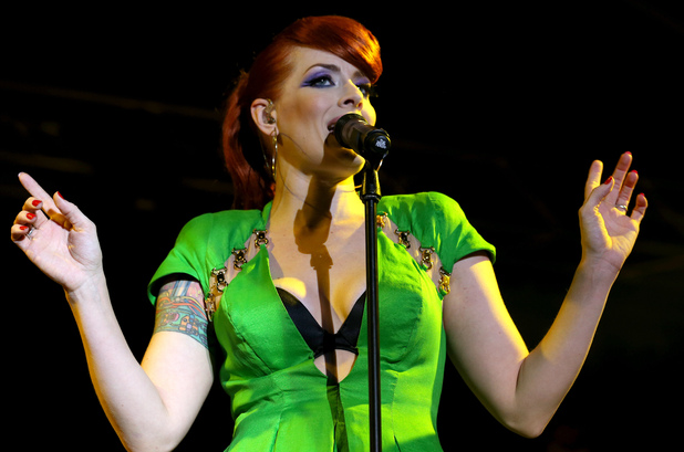 Ana Matronic performing at The Wickerman Festival, Scotland.