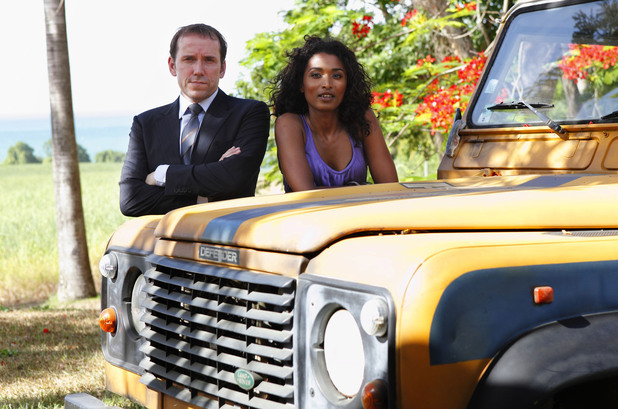 Sara Martins and Ben Miller in 'Death in Paradise'