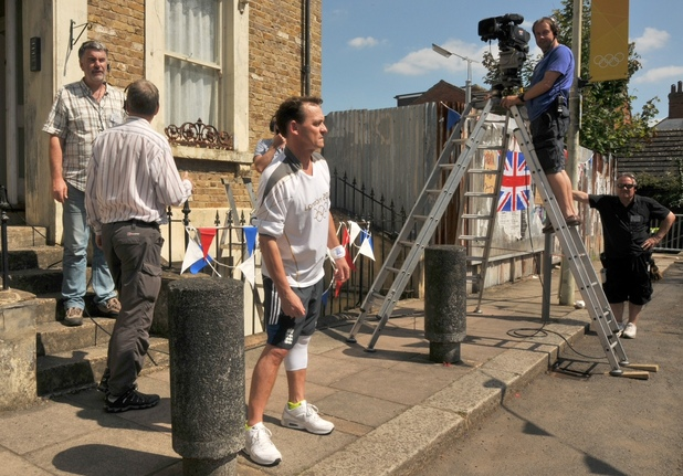 EastEnders rehearsals for their Olympic live segment.