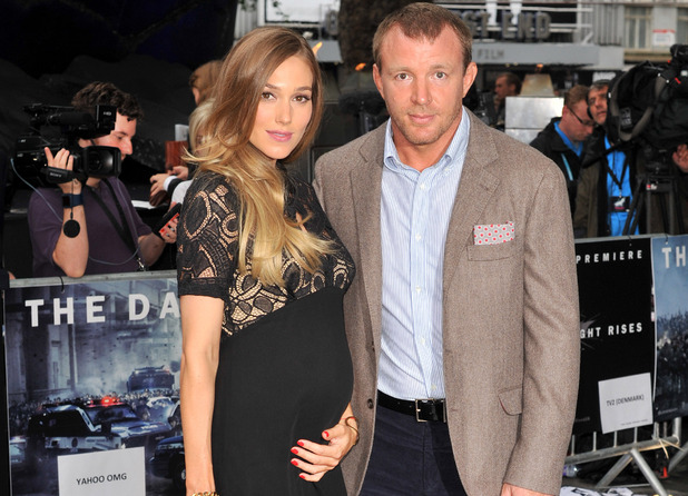 Guy Ritchie and Jacqui Ainsley at the European Premiere of 'The Dark Knight Rises'