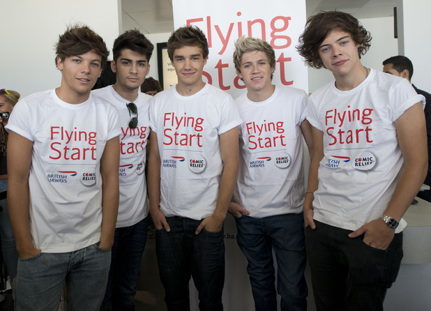 One Direction Comic Relief Charity Flight