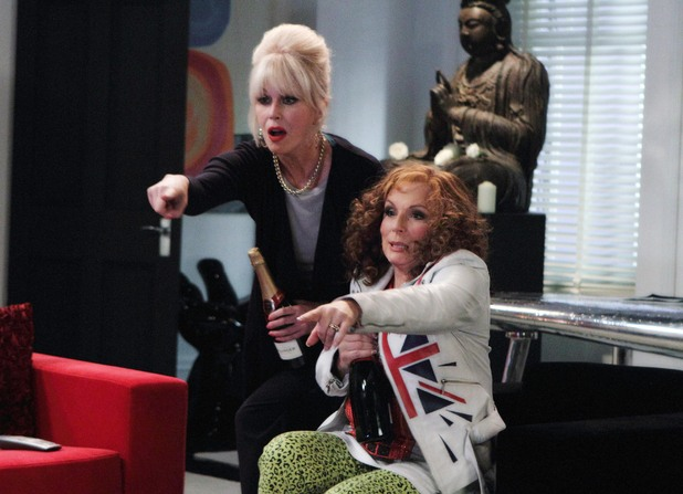 Patsy (Joanna Lumley) and Edina (Jennifer Saunders)