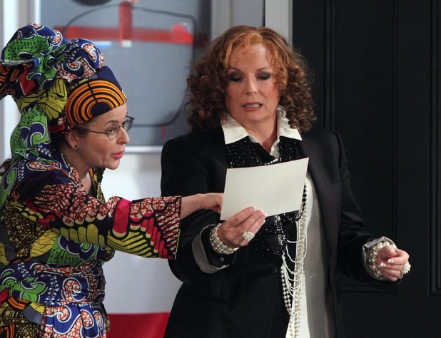 Saffy (Julia Sawalha) and Edina (Jennifer Saunders)
