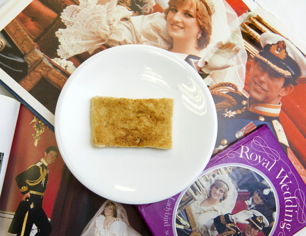 A  piece of toast which was left uneaten by Prince Charles on the morning of his wedding to Princess Diana in 1981 is to be auctioned, Derby, Britain