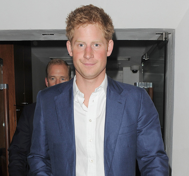 Prince Harry looking cheery as he leaves The Salon nightclub in Mayfair, London in the early hours of the morning