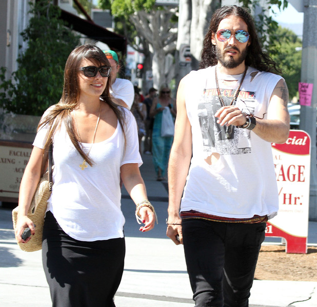 Russell Brand and Isabella Brewster, out and about in Los Angeles.