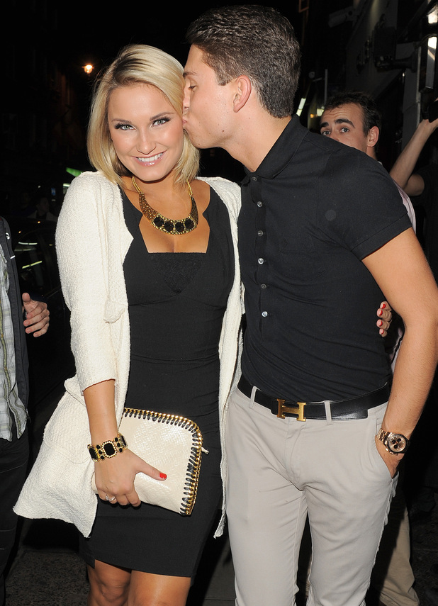 Samantha Faiers and Joey Essex out and about in Soho.