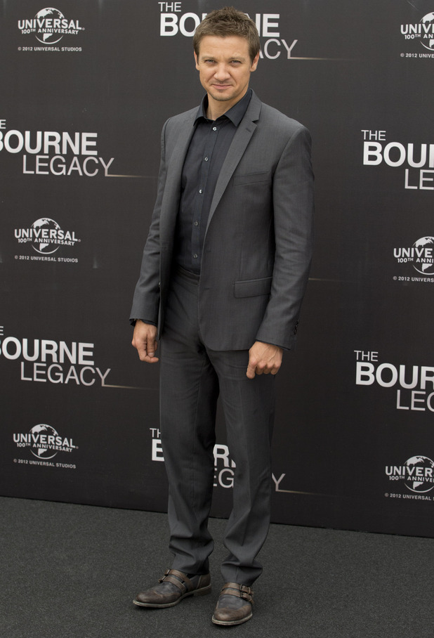 Jeremy Renner poses for photographers at a photo call in Rome to present the movie 'The Bourne Legacy'