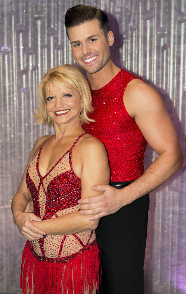 Olga Korbut with partner Matt Gonzalez
