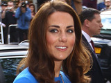 Duchess of Cambridge Kate Middleton arriving at the National Portrait Gallery in London to attend an Olympic exhibition