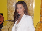 "Eva Longoria at the Lay's ""Do Us a Flavor"" contest kick off in Times Square."
