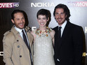 Christian Bale and the Dark Knight Rises cast hit London for the blockbuster's premiere.