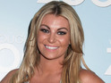 The former reality star is expecting her first child with fiance Andy Carroll.