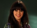 Zooey Deschanel reacts to being nominated for New Girl at the Emmys.