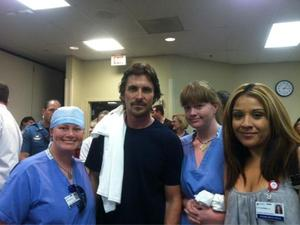 Christian Bale visits Colorado victims