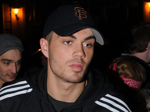 Max George of The Wanted, arrives back to his hotel. London, England - 29.03.11 Mandatory Credit: Steve Searle/WENN.com