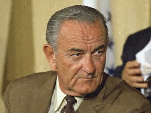Former US president Lyndon B Johnson pictured in 1968.