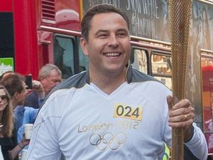 David Walliams, olympic torch, 2012