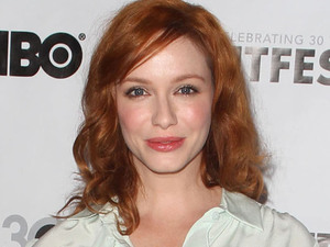Actress Christina Hendricks at the 'Struck By Lightning' premiere, part of the closing night gala of Outfest 2012 in Los Angeles