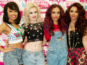 Little Mix backstage at the Party in the Park 2012 at Temple Newsam Park, Leeds