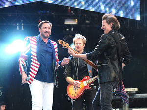 Duran Duran perform at the BT London Live concert, which coincides with the opening of the Olympic Games (July 27)