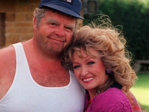 Geoffrey Hughes and Mary Miller in 'Keeping up Appearances'.