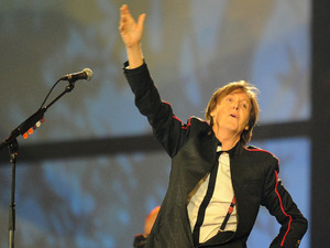 Paul McCartney performs during the London Olympic Games 2012 Opening Ceremony.