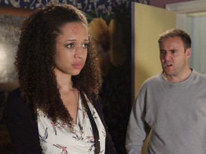 Tyrone is shocked when Kirsty announces that she is leaving