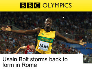 BBC Olympics app screenshot