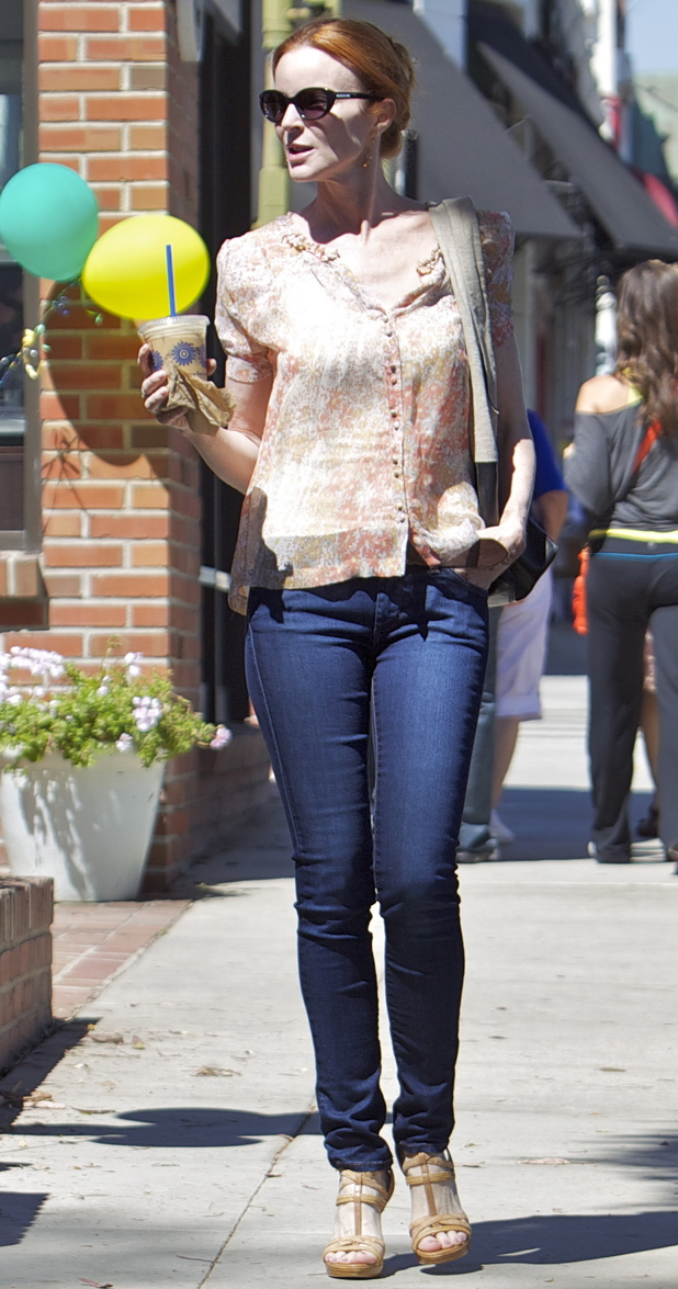 Marcia Cross out and about in California.