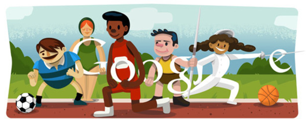 Google's special Doodle logo celebrating the 2012 London Olympics
