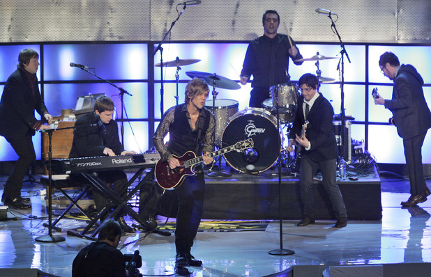 Matchbox 20 performs during the 2008 NASCAR Sprint Cup Series Awards Ceremony