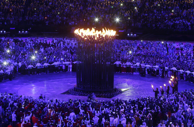 The Olympic Cauldron in all it&#39;s glory.