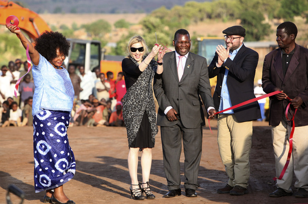 Madonna visits her Malawian school for a groundbreaking ceremony in 2009. The project was cancelled in 2011.