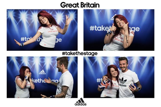 Zuleika Butler and David Beckham