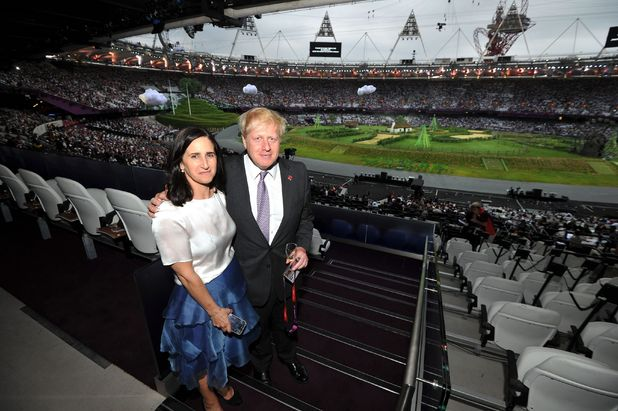Boris arriving at opening ceremony