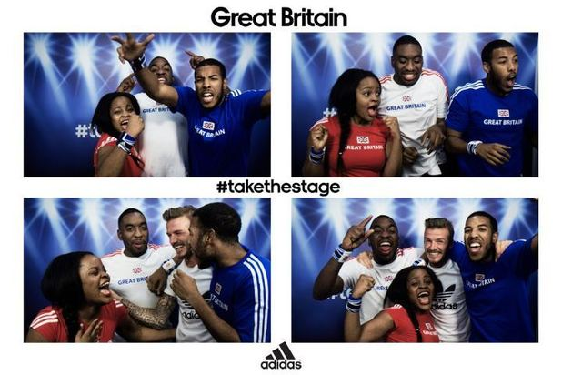 David Beckham surprises fans in Olympics photo booth