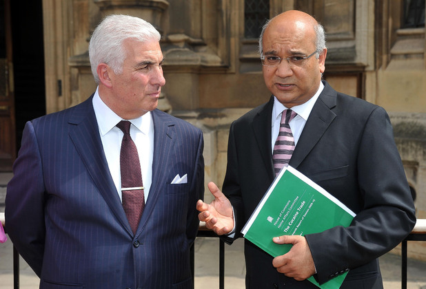 Mitch Winehouse and Keith Vaz