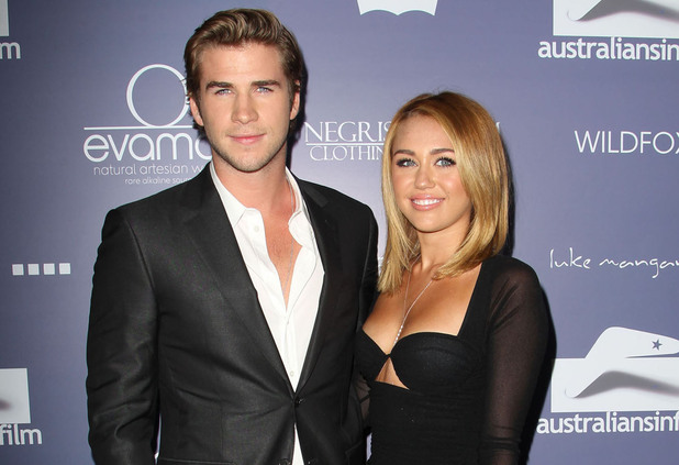 Liam Hemsworth, Miley Cyrus at the Australians In Film Awards & Benefit Dinner 2012 held at The InterContinental Hotel in Los Angeles, California - 27.06.12