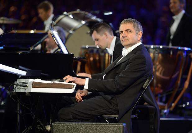 Rowan Atkinson appearing in the Opening Ceremony as the famous Mr. Bean