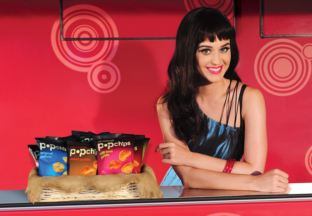 Katy Perry with pop chips