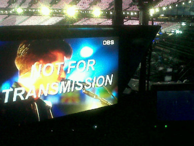 Arctic Monkeys rehearsing for Olympic closing ceremony